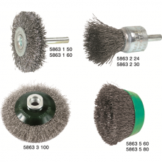 Crinkled Wire Brushes – Stainless Steel V2A