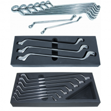 Offset Double Ring Spanner Set