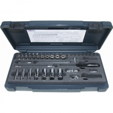 "Socket Wrench Set1/4"" Flank Technique 47-Part"