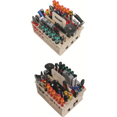Tool range for electrician's carry set