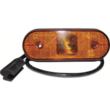 Side Marker Light LED Unipoint, Flat Yellow