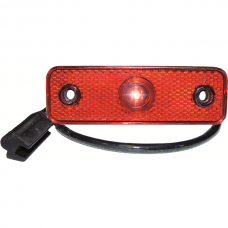 Tail / Clearance Lamp LED Plug, Flat Red