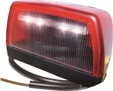 Tail / License Plate Light LED, Red/White
