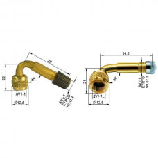 Brass Valve Extensions, Rigid