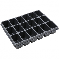 Thermoformed insert, 18 compartments, VAROiBOXX