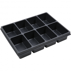 Thermoformed insert, 8 compartments, VAROiBOXX