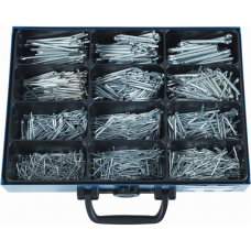 Cotter Pins DIN 94, Galvanized, Assortment