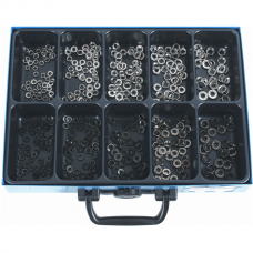 Cup Washers, Black/Nickel Plated, Assortment