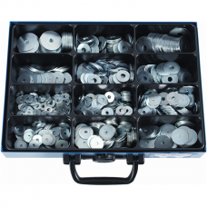 Large Diameter Washers, Galvanized, Assortment