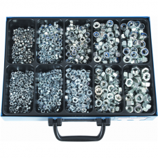 Nylock Nuts and Hex Nuts, Galvanized, Assortment