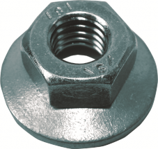 Hex Flange Nuts, Galvanized